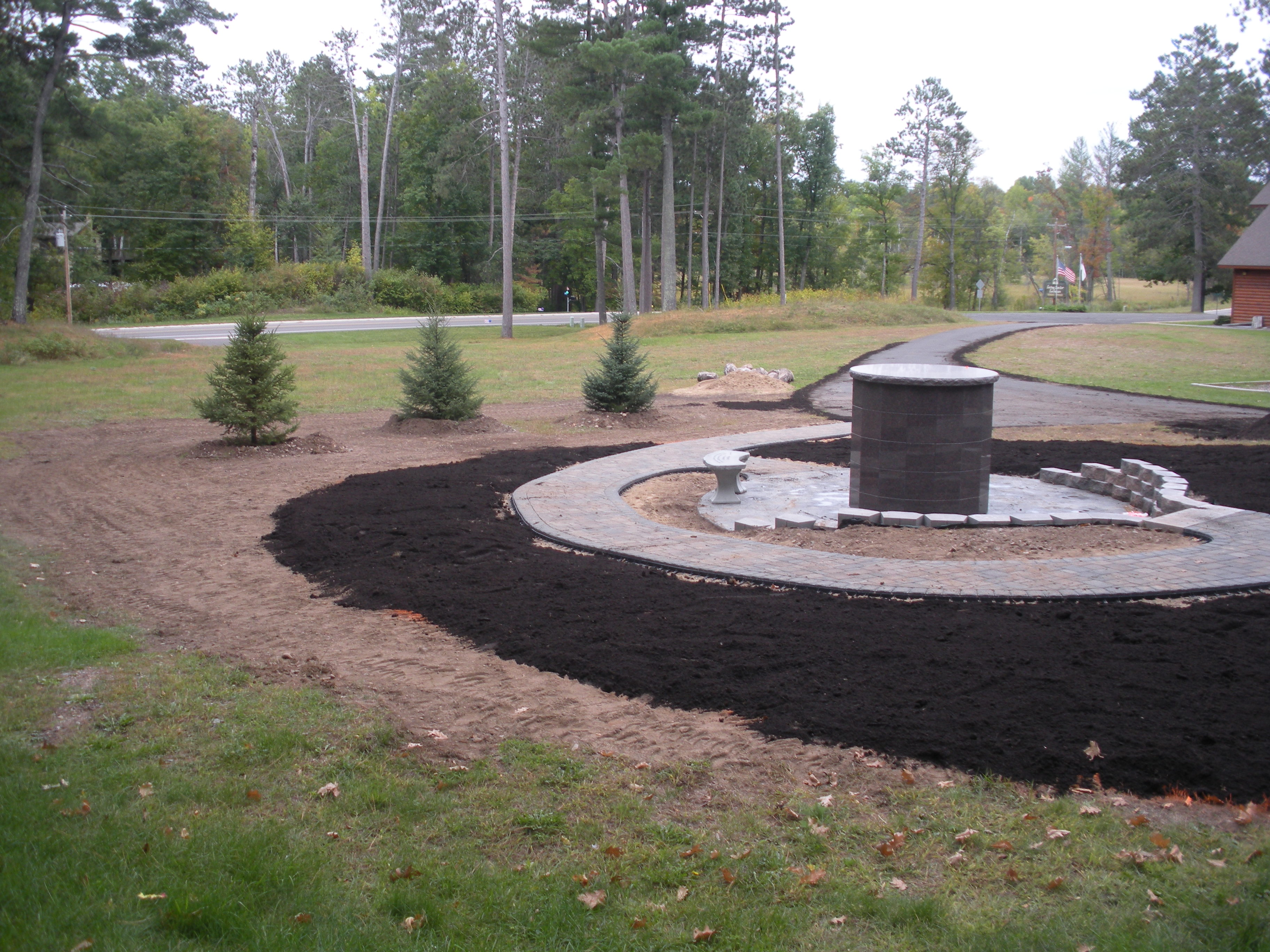Continued work on our new columbarium